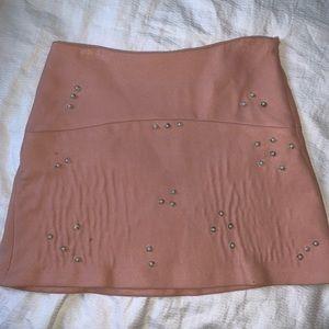 Studded pink skirt from Zara